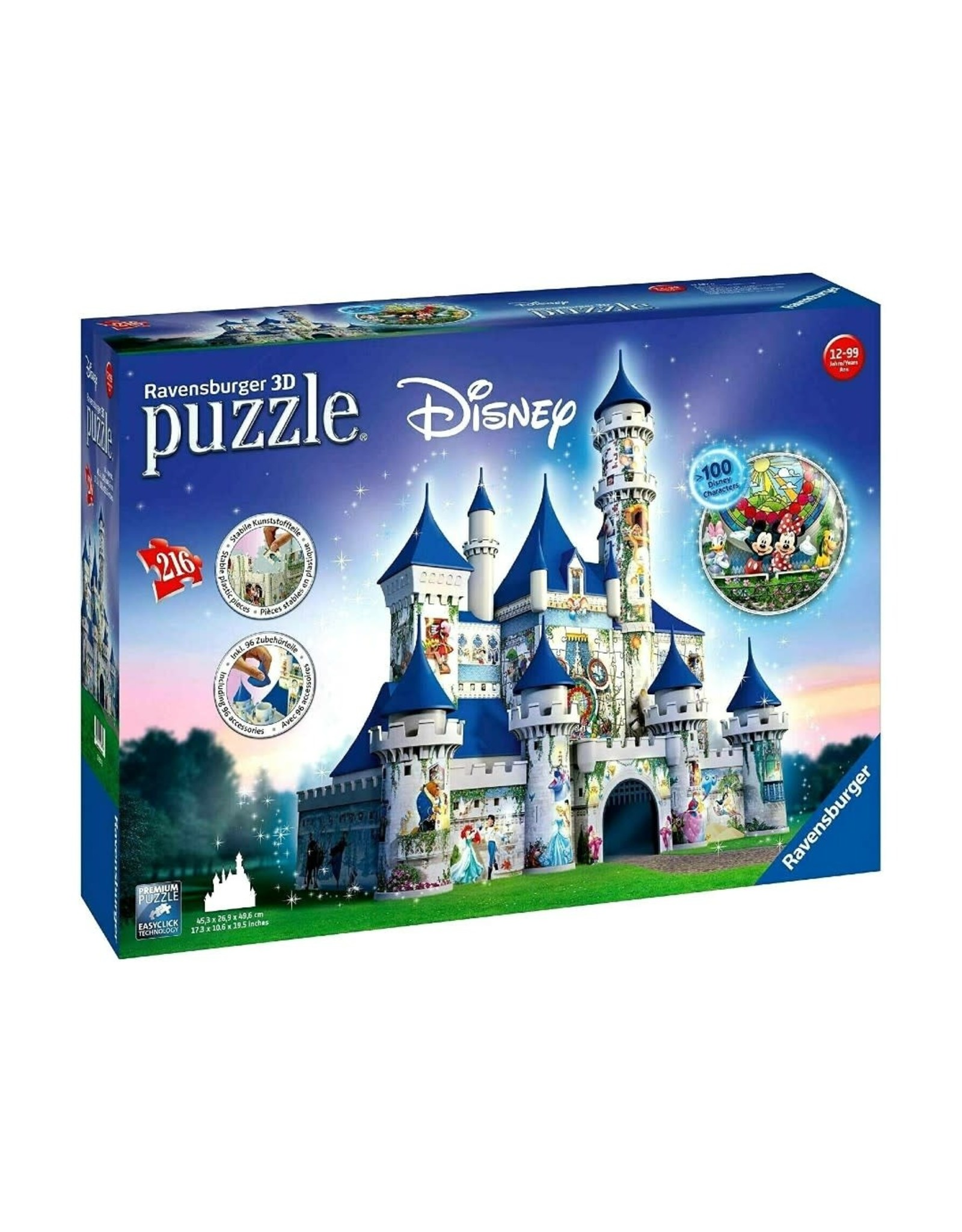 Ravensburger Disney Castle (216 pc 3D Bldg)
