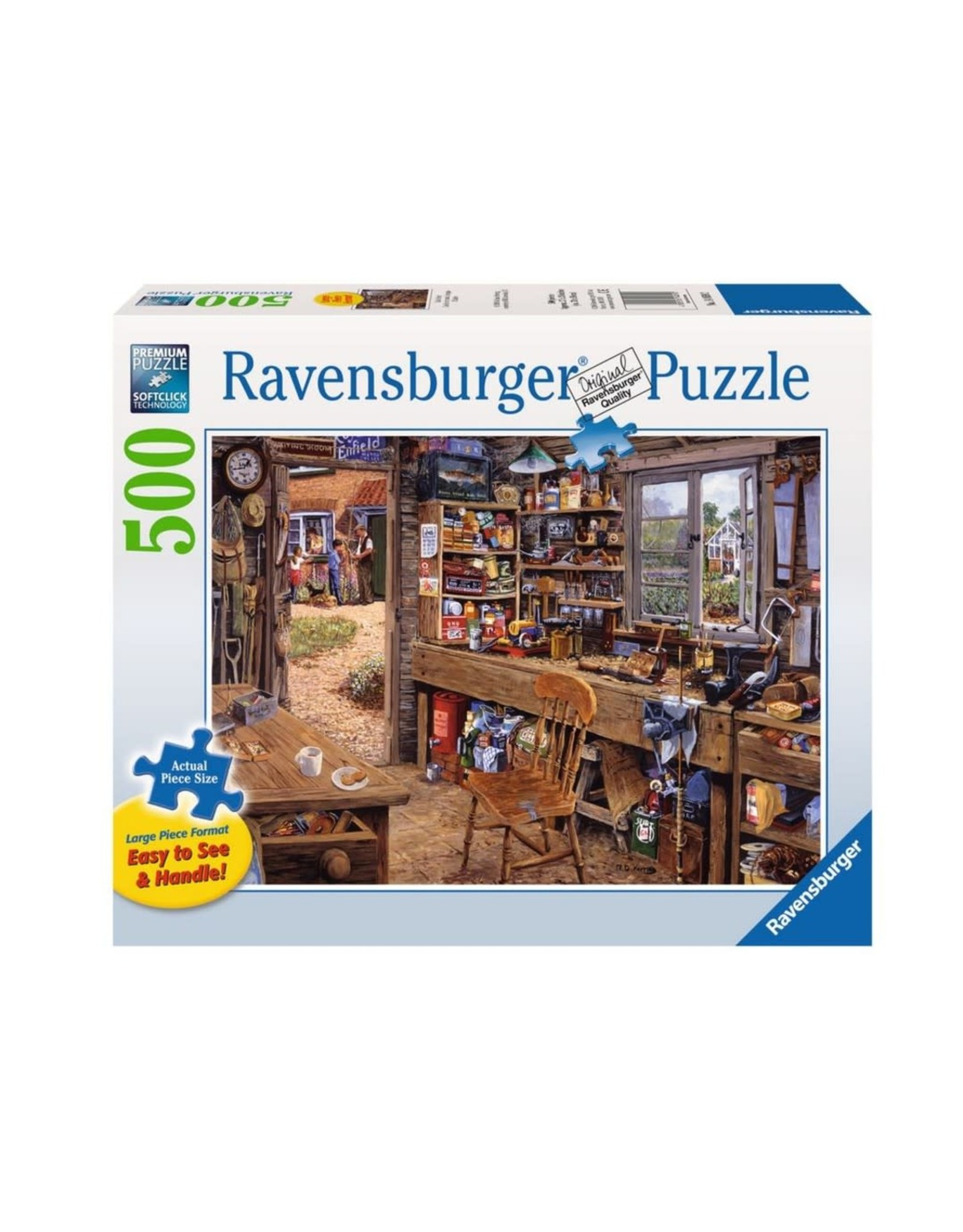 Ravensburger Dad's Shed (500 pc Lrg Fmt)