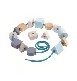 Plan Toys Geometric Lacing Beads