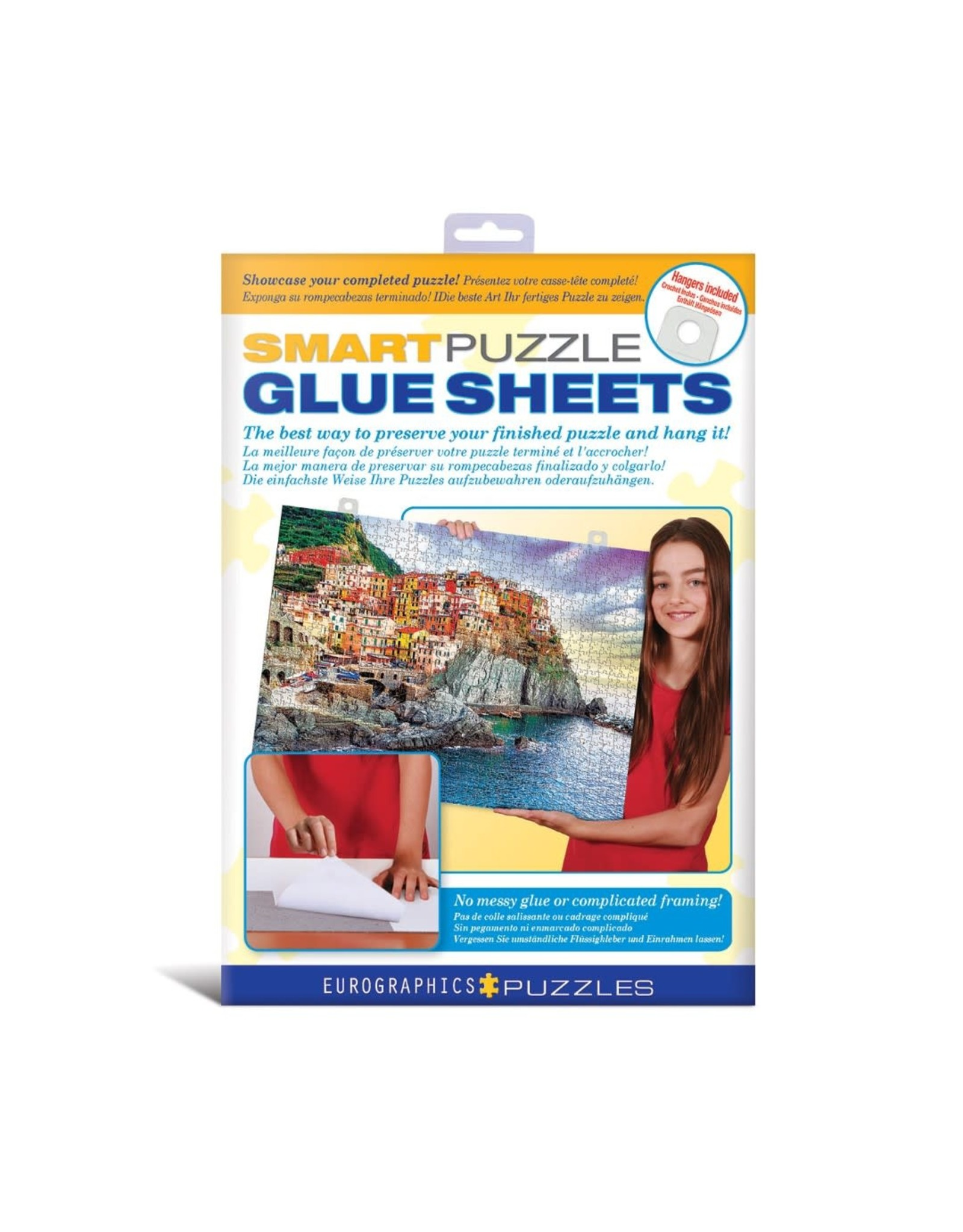 EuroGraphics Individual Puzzle Glue Sheets (pk of 8 sheets)