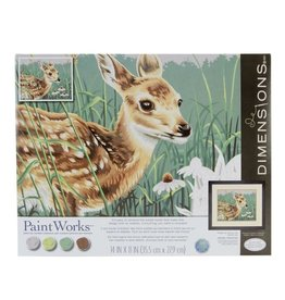 Paint Works Fawn and Flowers