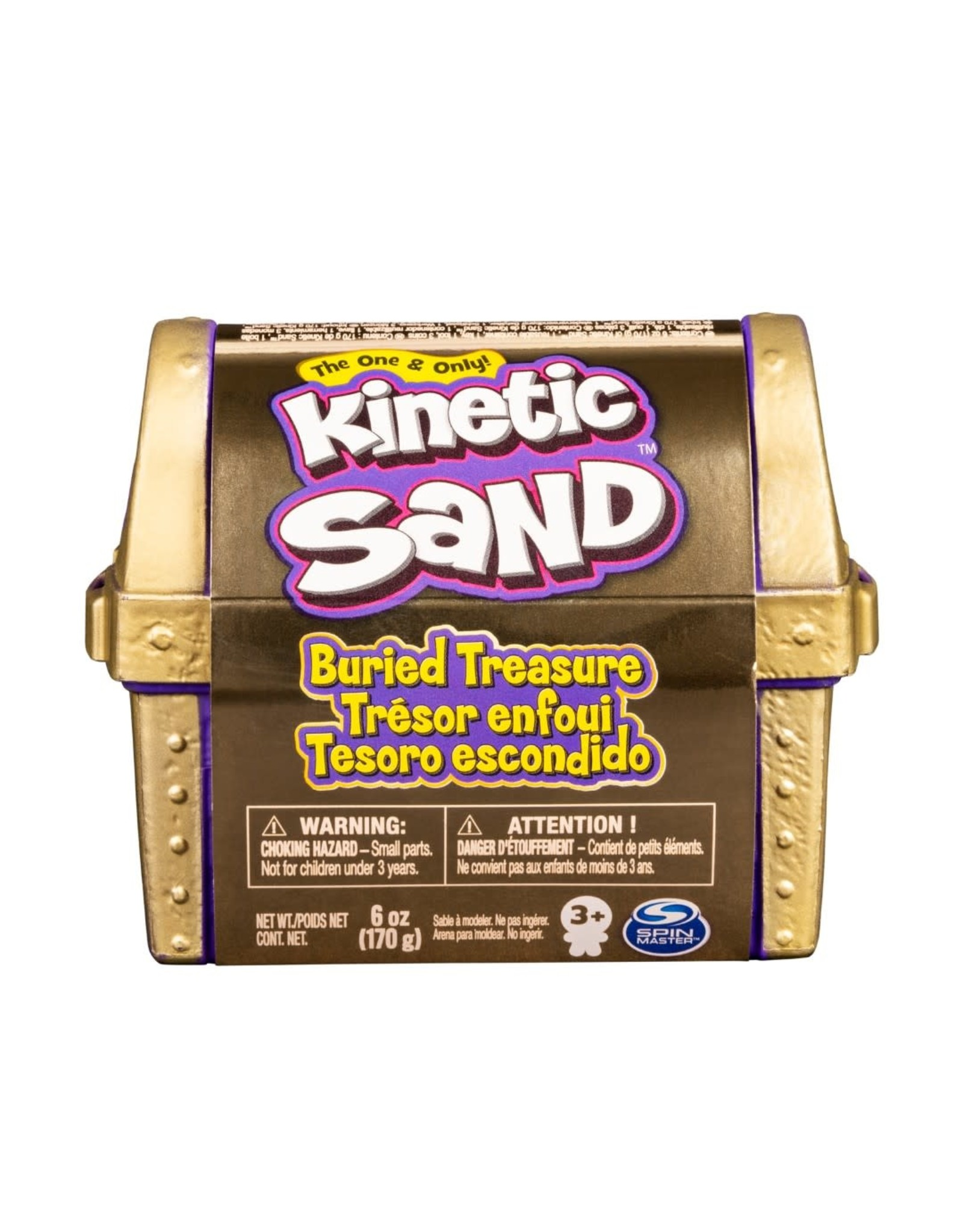 Kinetic Sand Kinetic Sand, Buried Treasure Playset with 6oz of All-Natural Kinetic Beach Sand and Hidden Tool (Style May Vary)