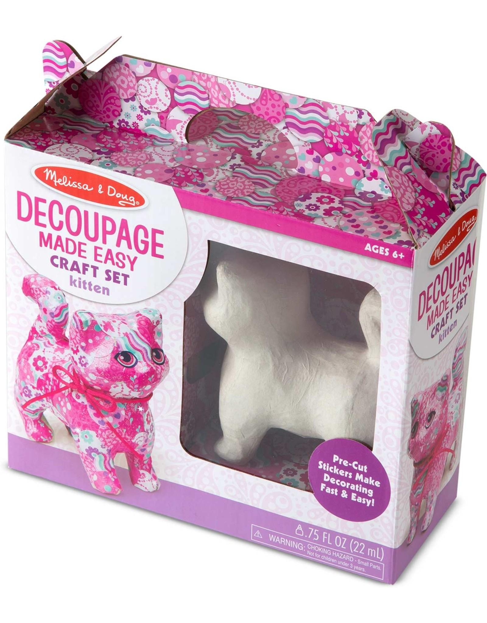 Melissa & Doug Decoupage Made Easy - Kitten