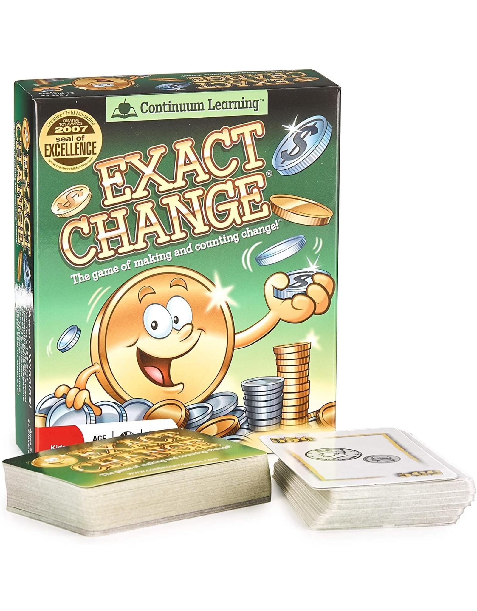 Continuum Exact Change