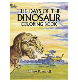 Dover The Days of the Dinosaur Coloring Book