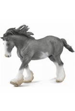 CollectA Black Sabino Roan Clydesdale Stallion