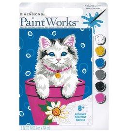 Paint Works Flower Pot Kitten