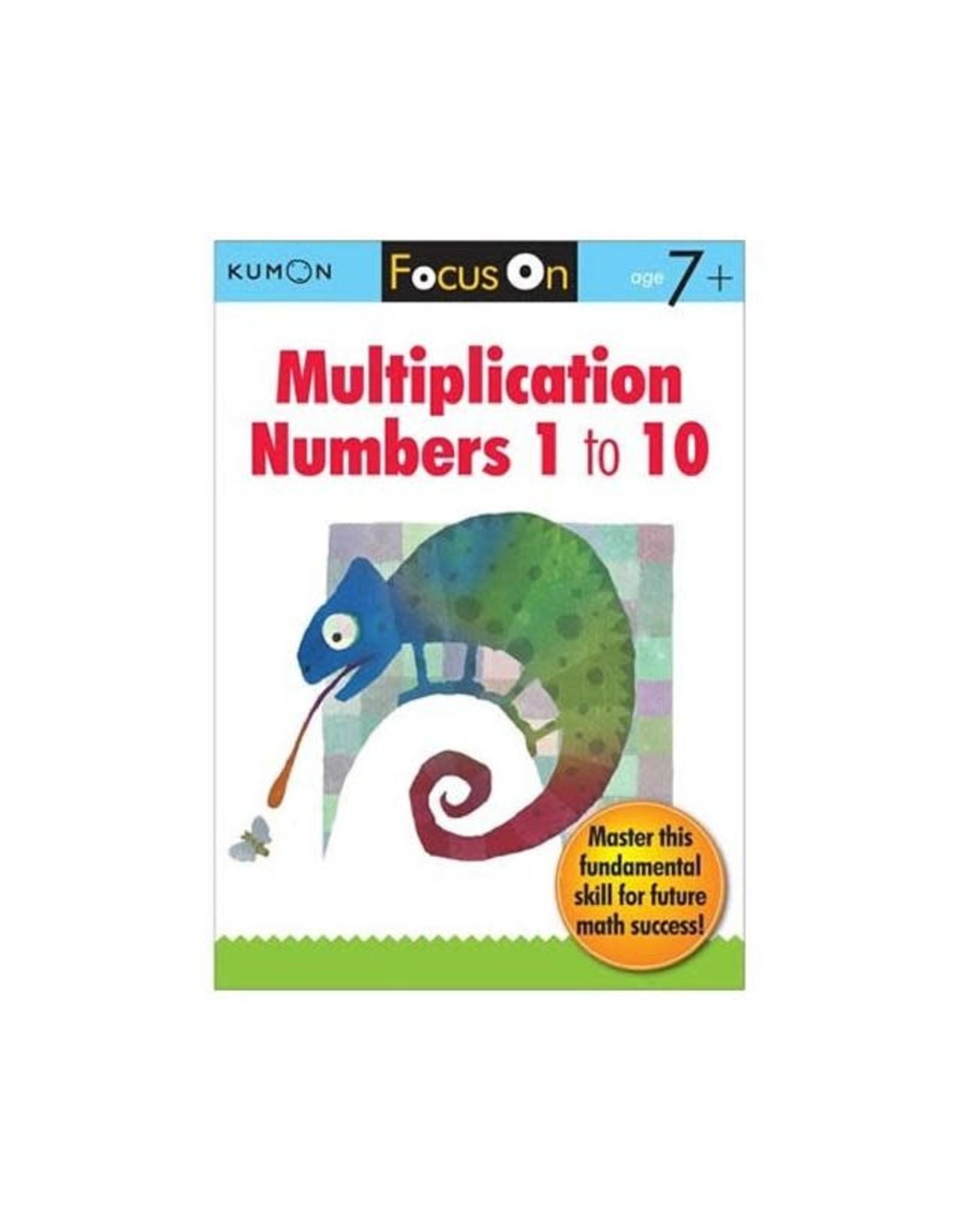 Kumon FOCUS ON MULTIPLICATION: NUMBERS 1 to 10