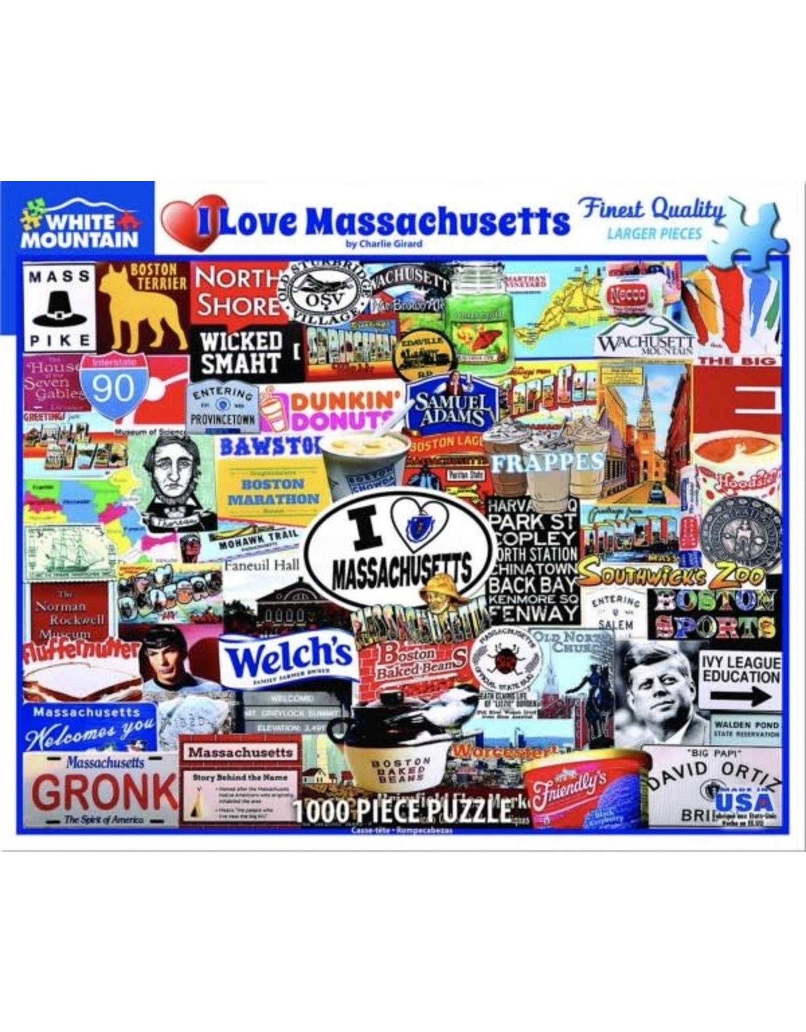 White Mountain Puzzles I Love Massachusetts 1000pc