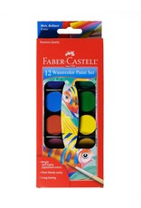 Faber-Castell 12ct Watercolor Paint Set (cakes)