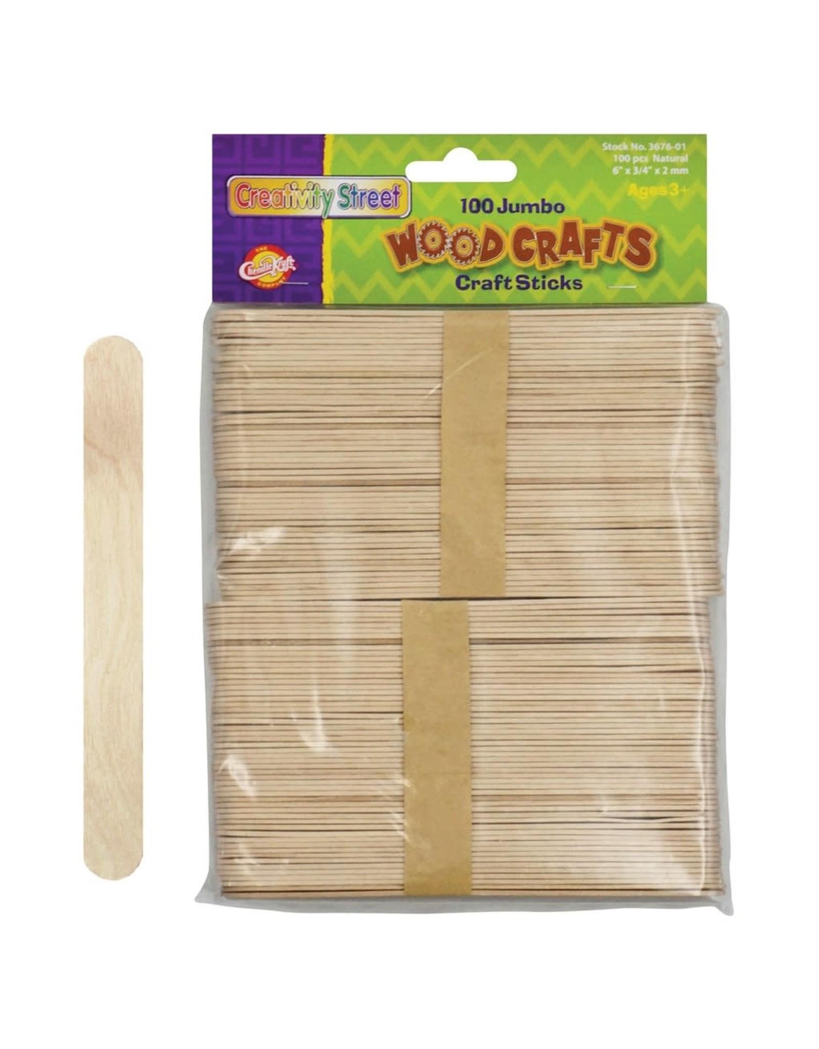 Jumbo Craft Sticks Natural