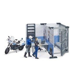 Bruder bWorld police Station w/Police Motorbike