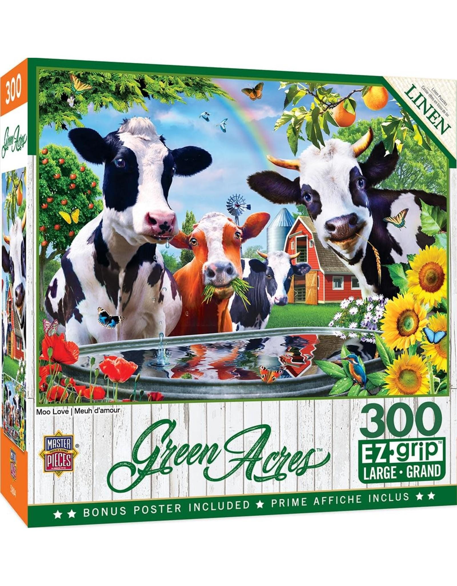 Master Pieces Green Acres - Moo Love 300pc EzGrip Puzzle