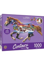 Master Pieces Countours - Running Horse 1000pc Shaped Puzzle
