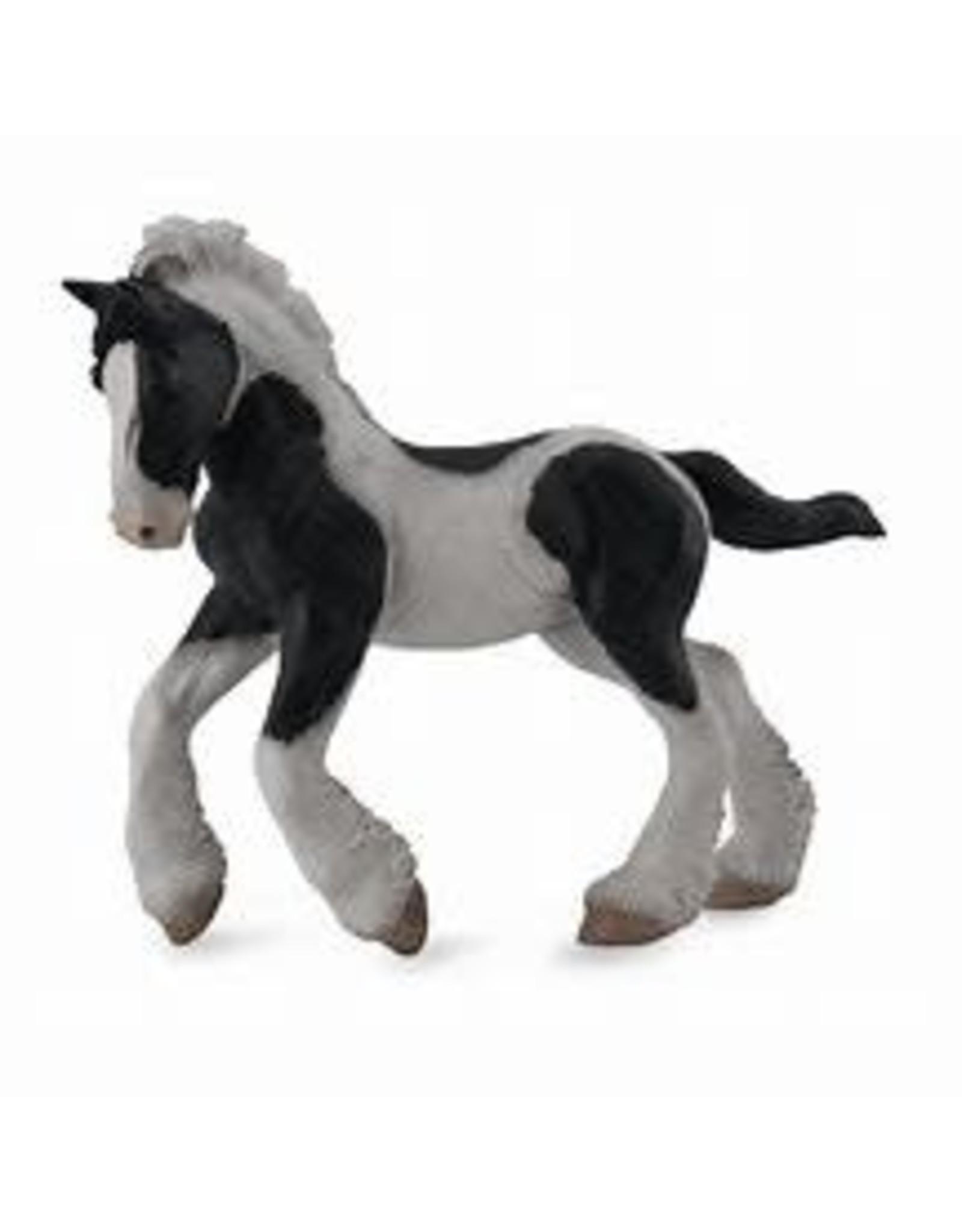 CollectA Black & White Piebald Gypsy Foal