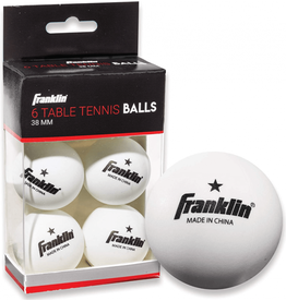 White Table Tennis Balls 6 Pack