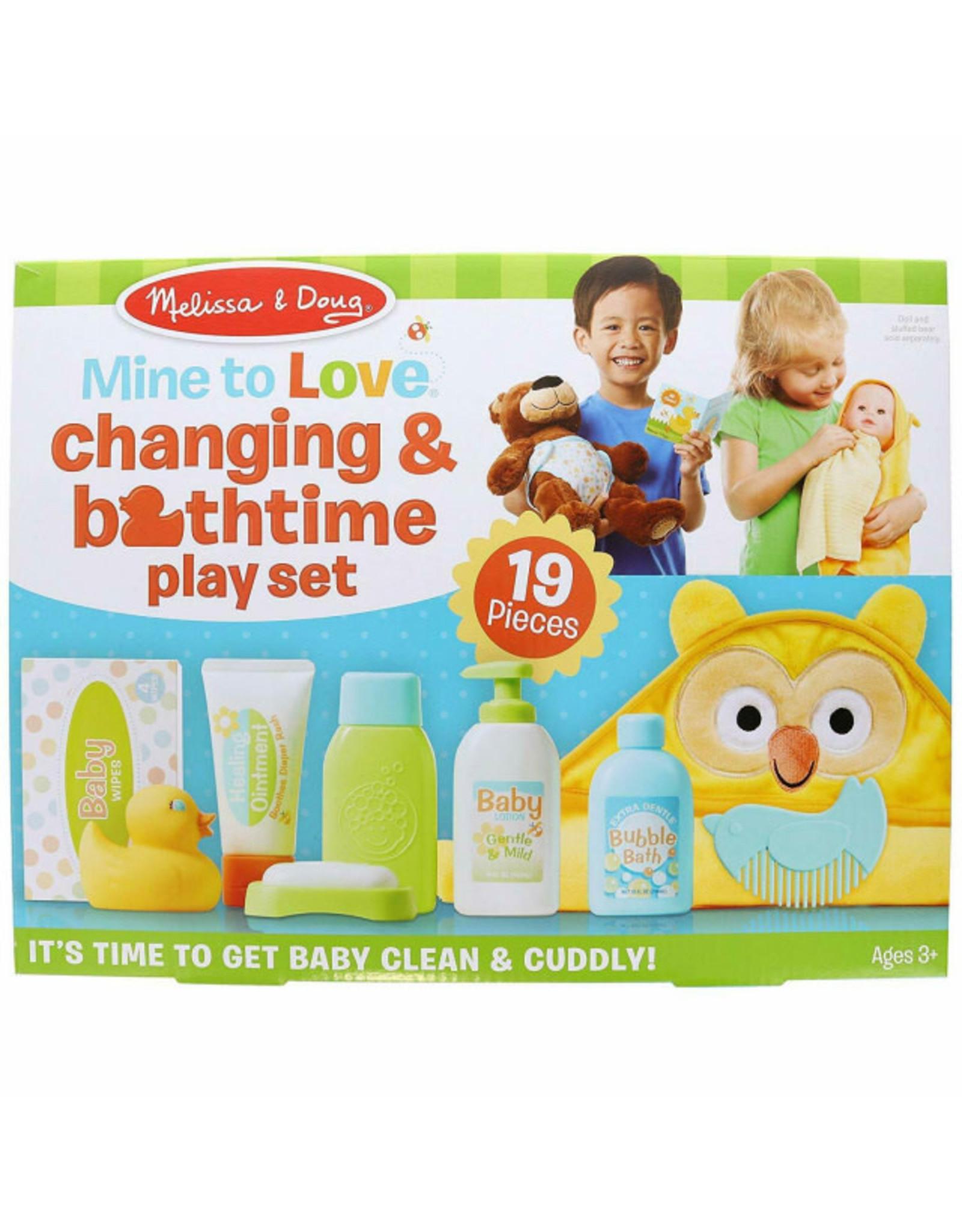 Melissa & Doug Mine to Love Changing & Bathtime Play Set