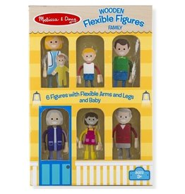 Melissa & Doug Wooden Flexible Figures- Family