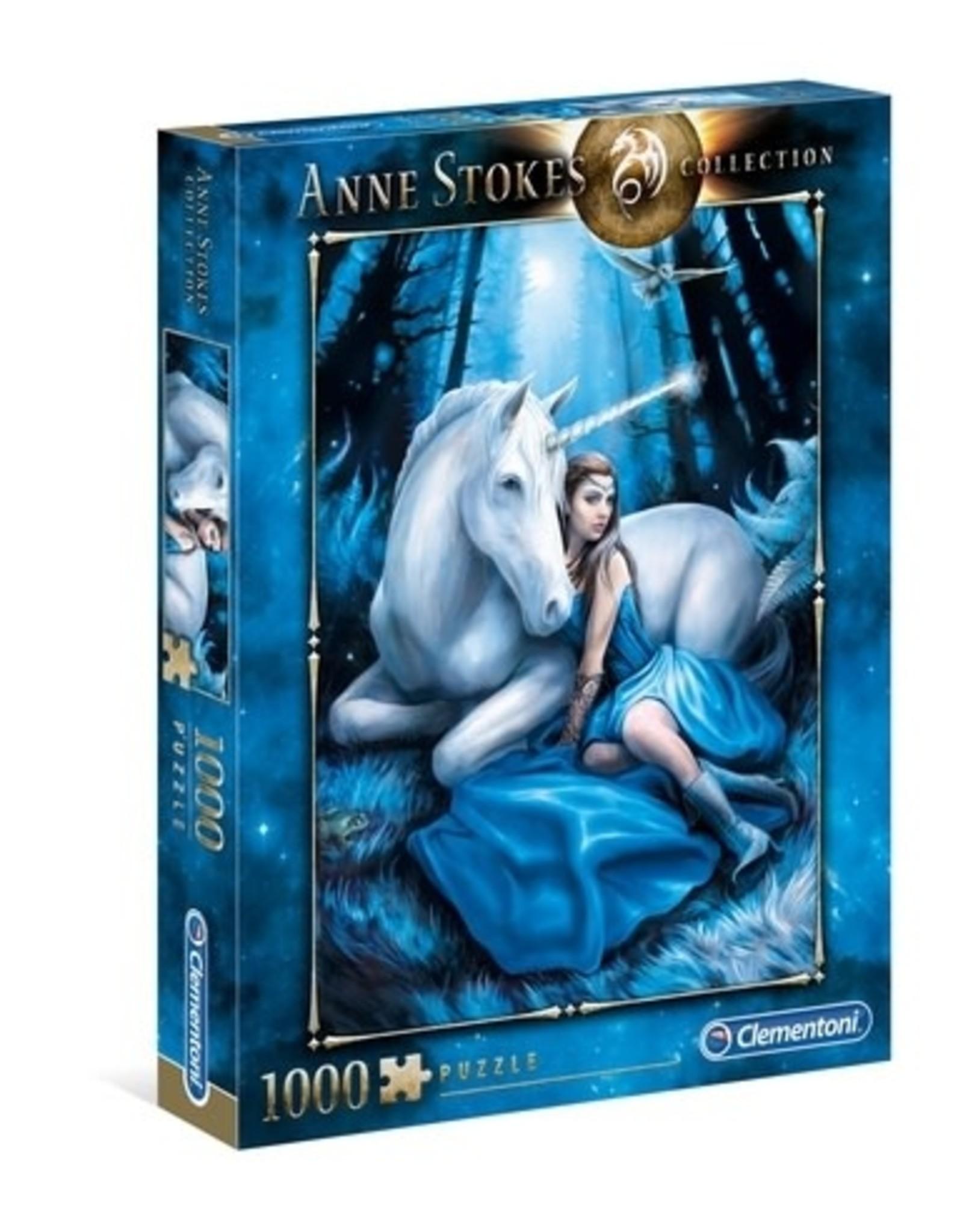 Clementoni Puzzles Anne Stokes - Blue Moon, 1000 pc puzzle - NEW
