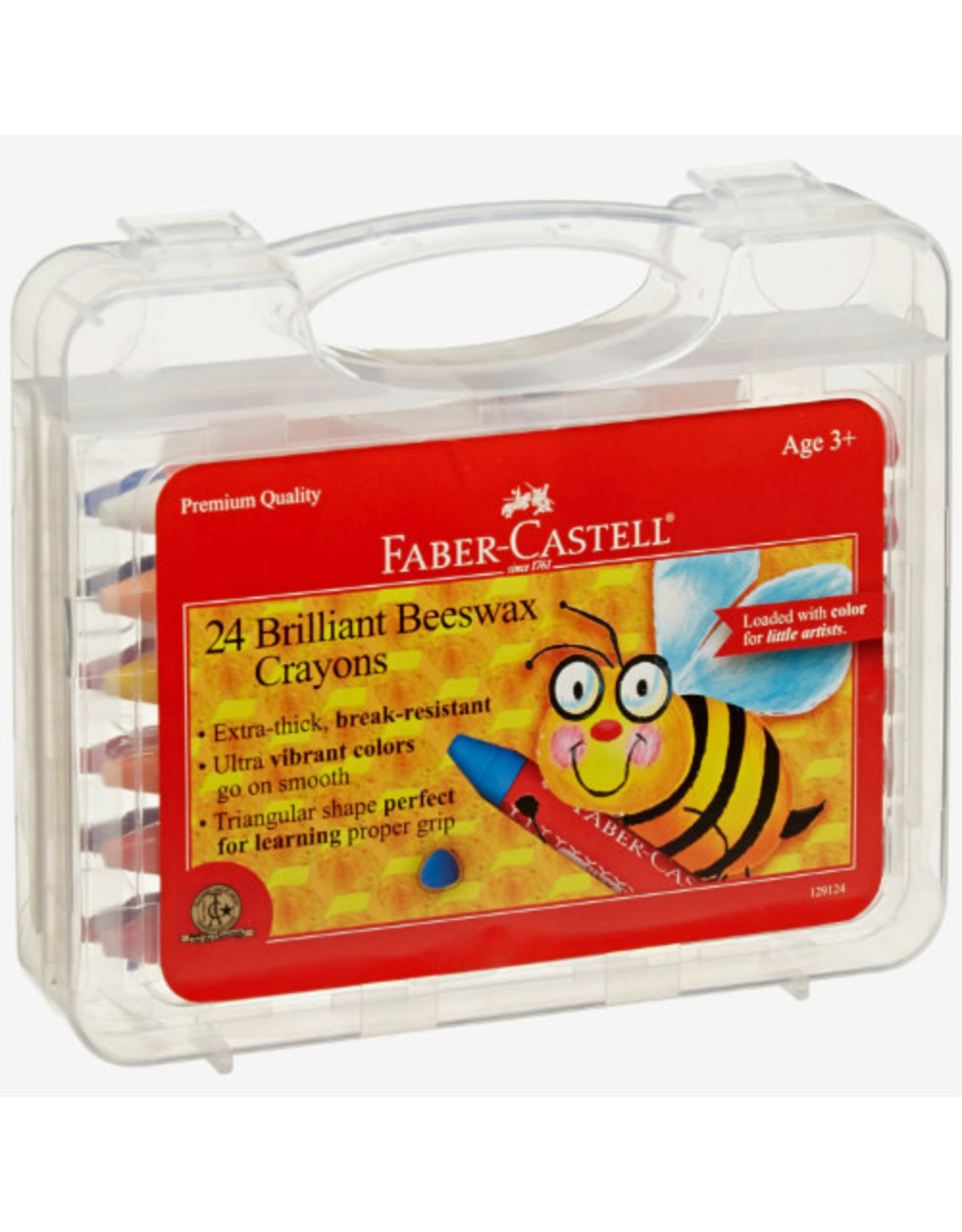 Faber-Castell 24ct Jumbo Beeswax Crayons in Storage Case