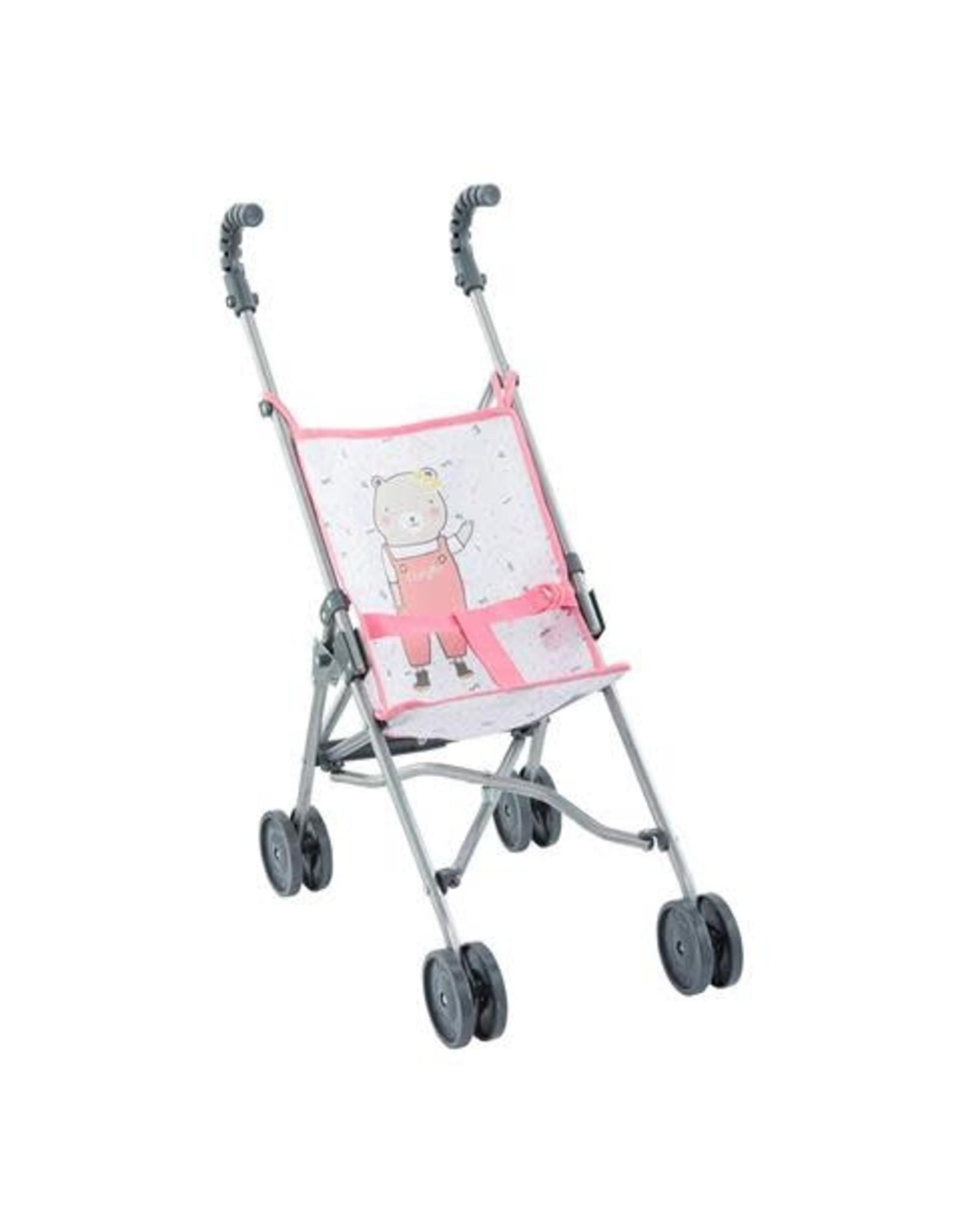 "Corolle BB14"" & 17"" & 20"" Umbrella Stroller - Pink - NEW"