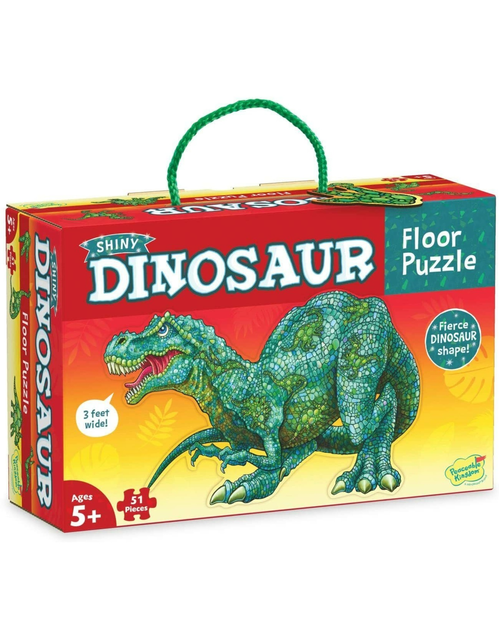 Peaceable Kingdom Floor Puzzle: Shiny Dinosaur