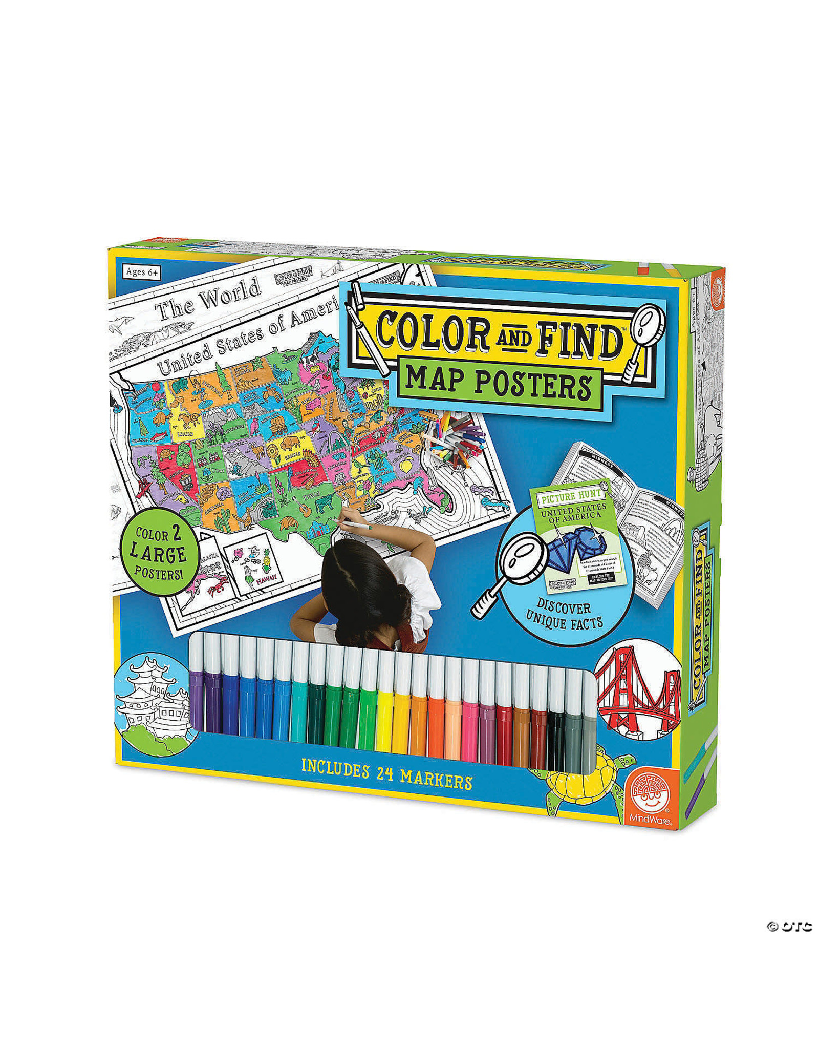 Mindware Color & Find Map Posters