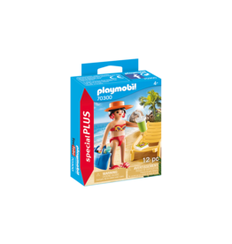 PLAYMOBIL Sunbather with Lounge Chair