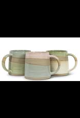 Green/White Rustic Mug