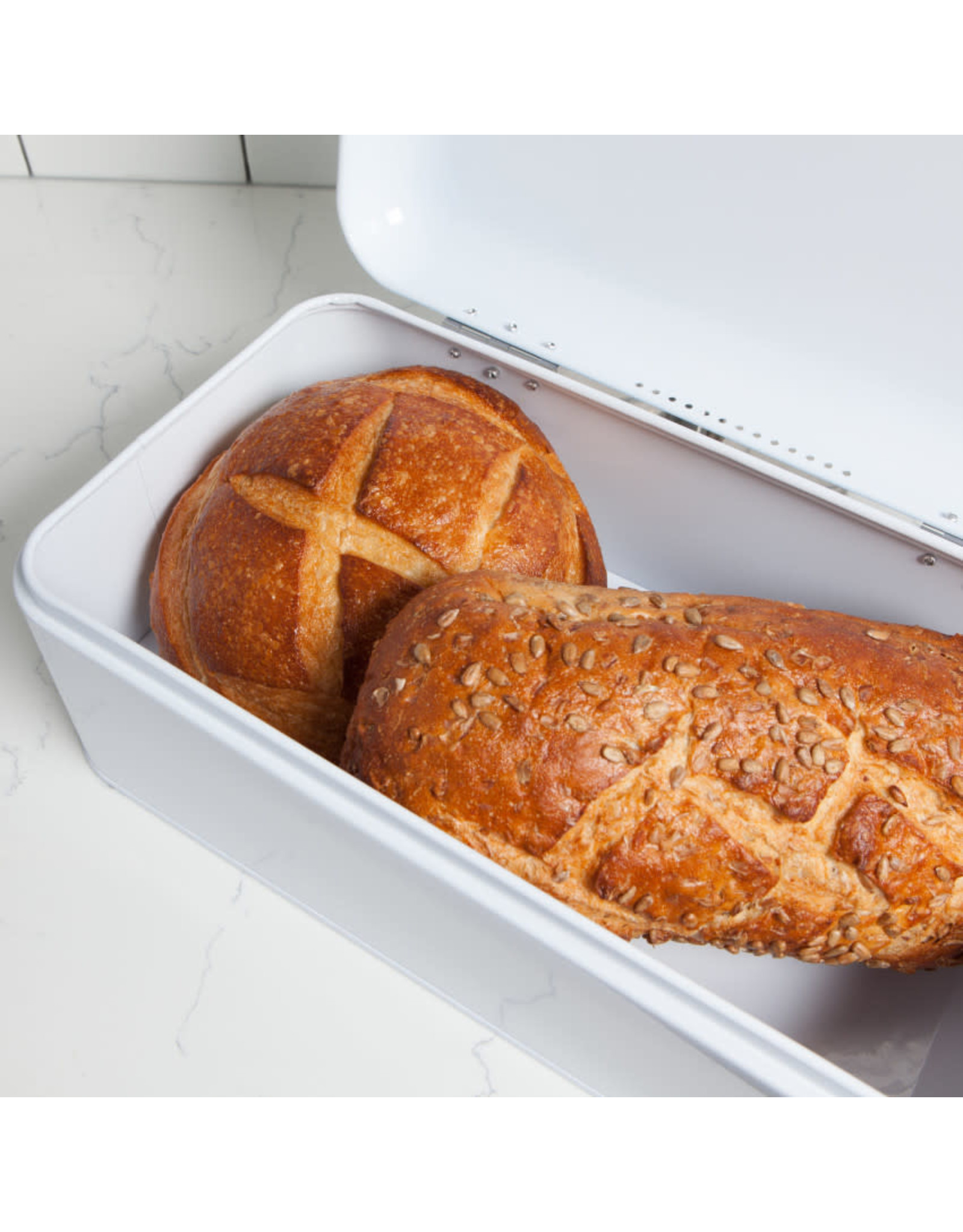 Bread Bin White