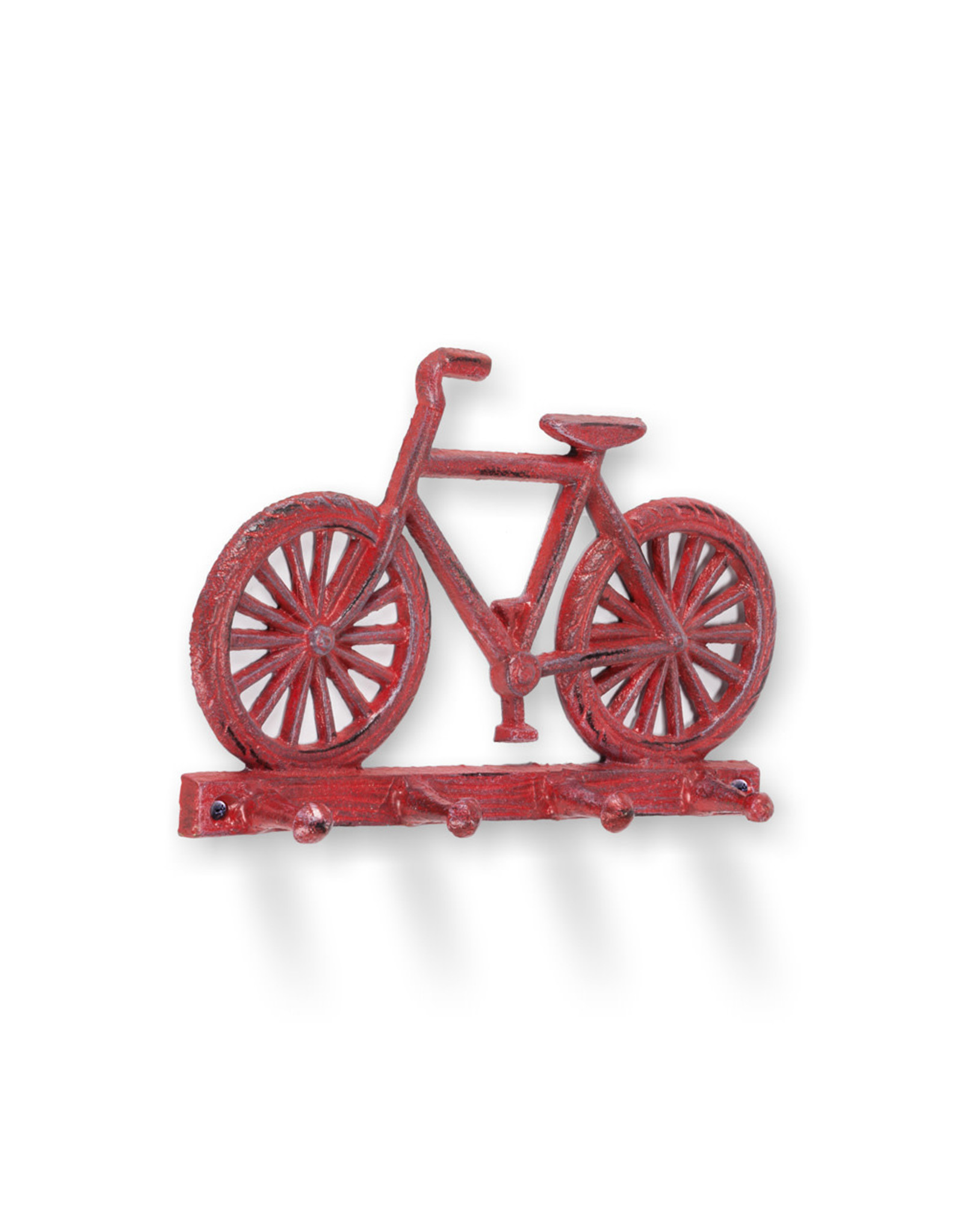 """Bicycle Wall Hook - Antique Red 8""""L"""