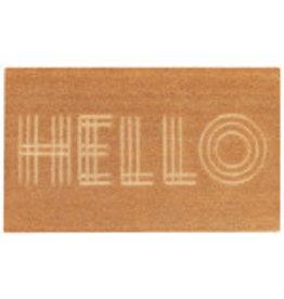 Carved Coir Hello Doormat