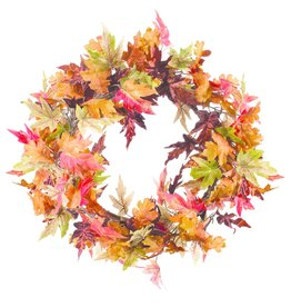 Maple & Oak Leaf Wreath