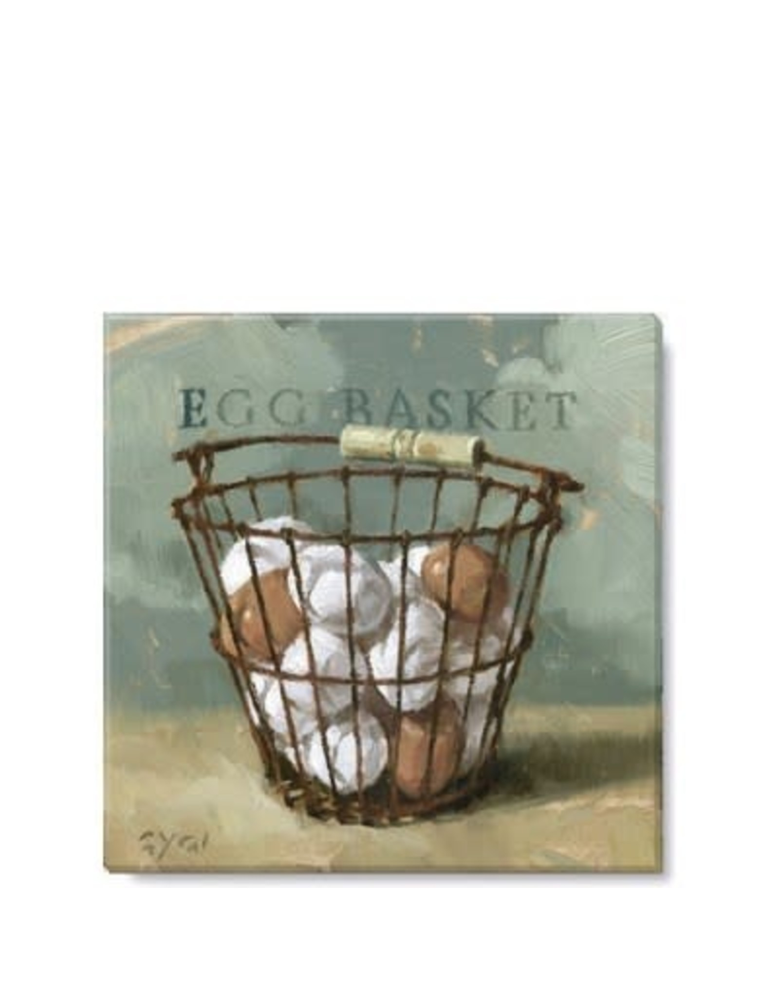 Egg Basket Giclee Wall Art