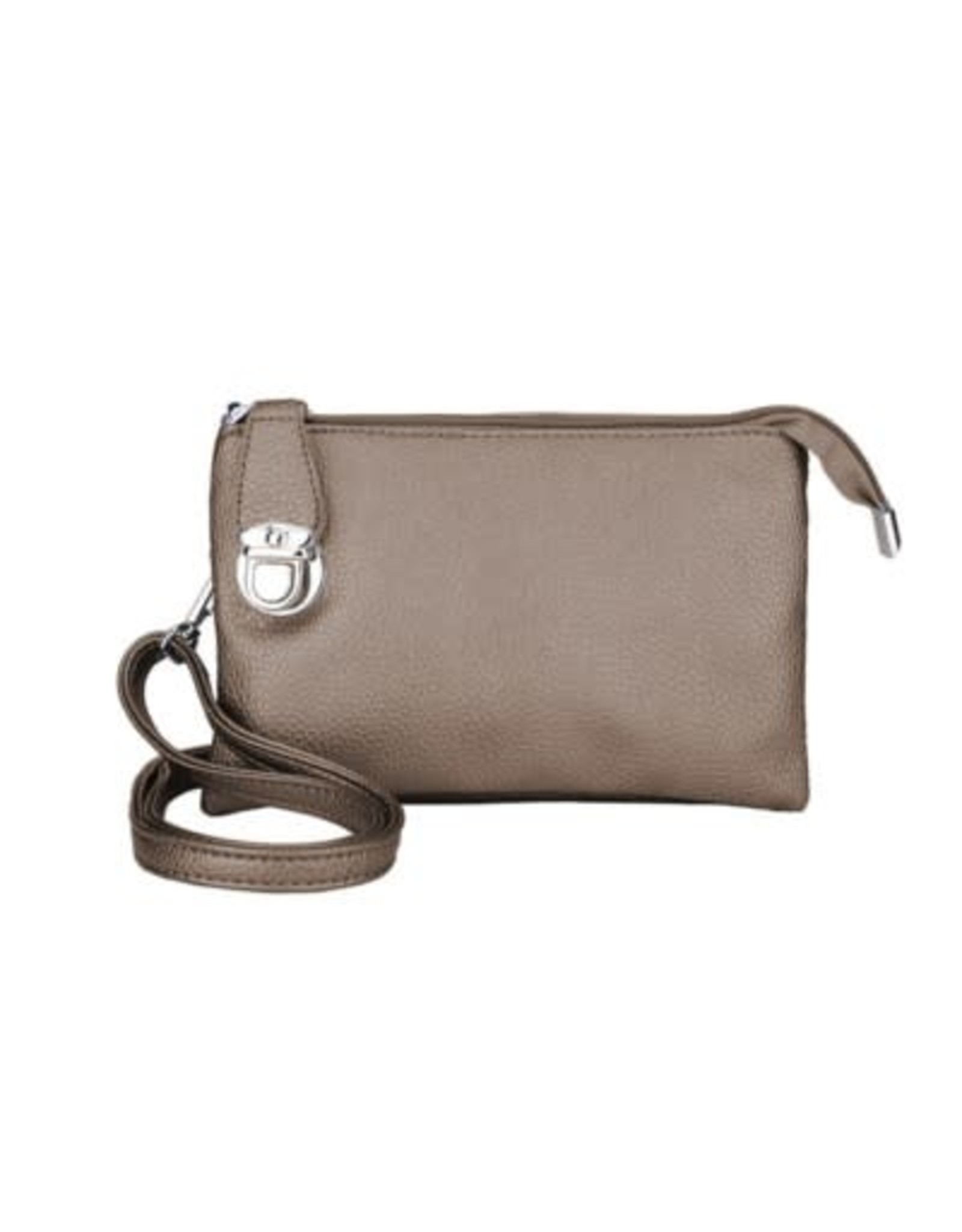 Buckle Clutch with Cross Body  Strap