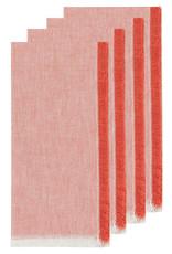 Chambray Heirloom Napkins Set of 4 - Clay