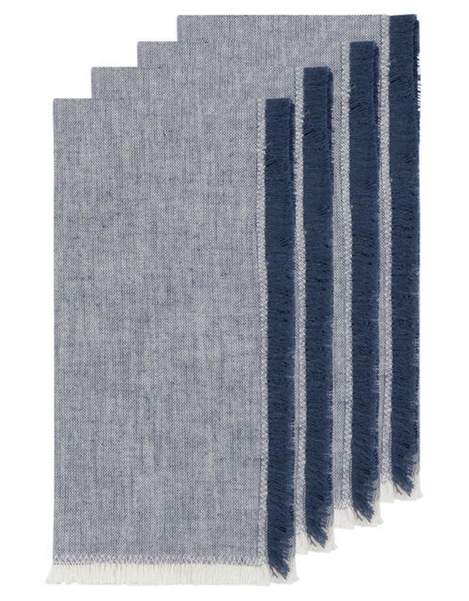 Chambray Heirloom Napkins Set of 4 - Midnight