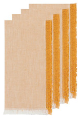 Chambray Heirloom Napkins Set of 4 - Ochre