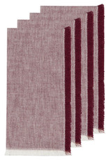 Chambray Heirloom Napkins S/4 - Wine