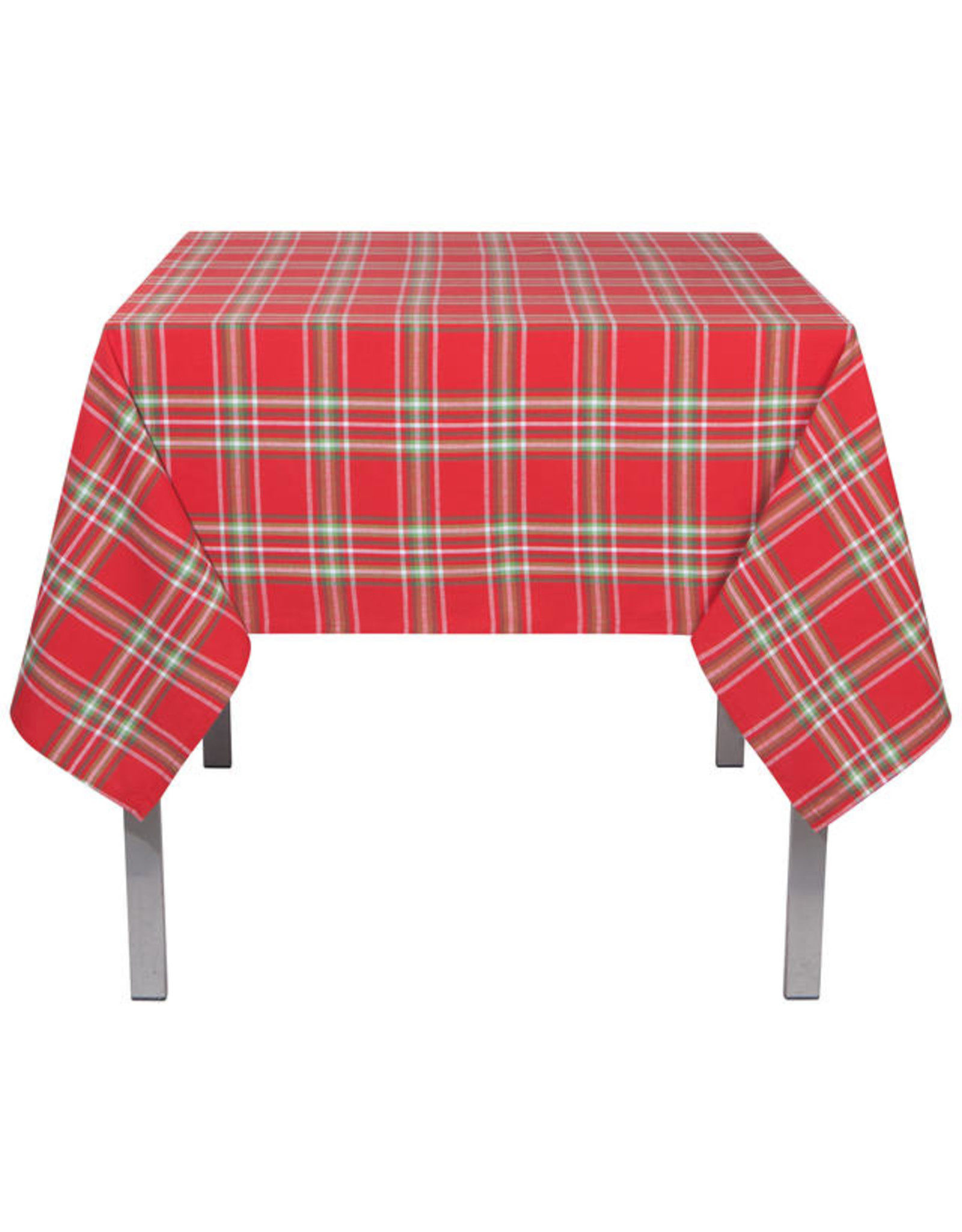 "Noel Plaid Table Cloth 90"""