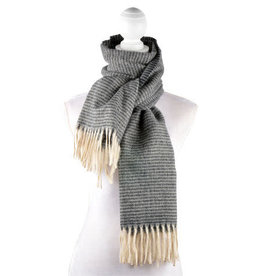 Catherine Lillywhite's Dark Grey Striped Scarf