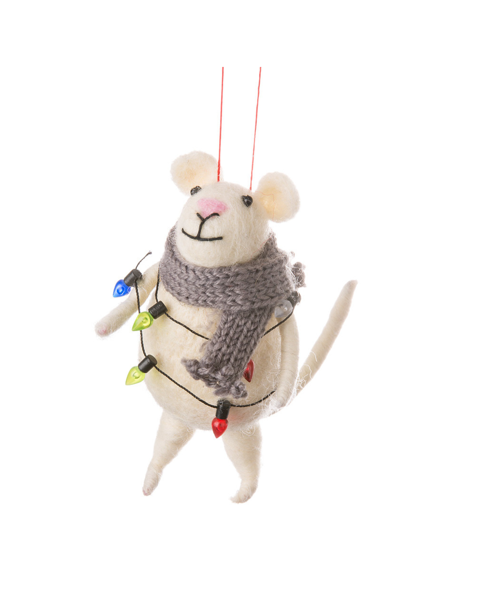 Lenny Mouse With Lights Ornament