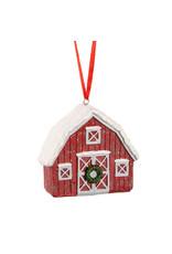 Snowy Barn Ornament