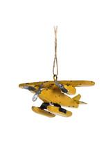 Yellow Float Plane Ornament