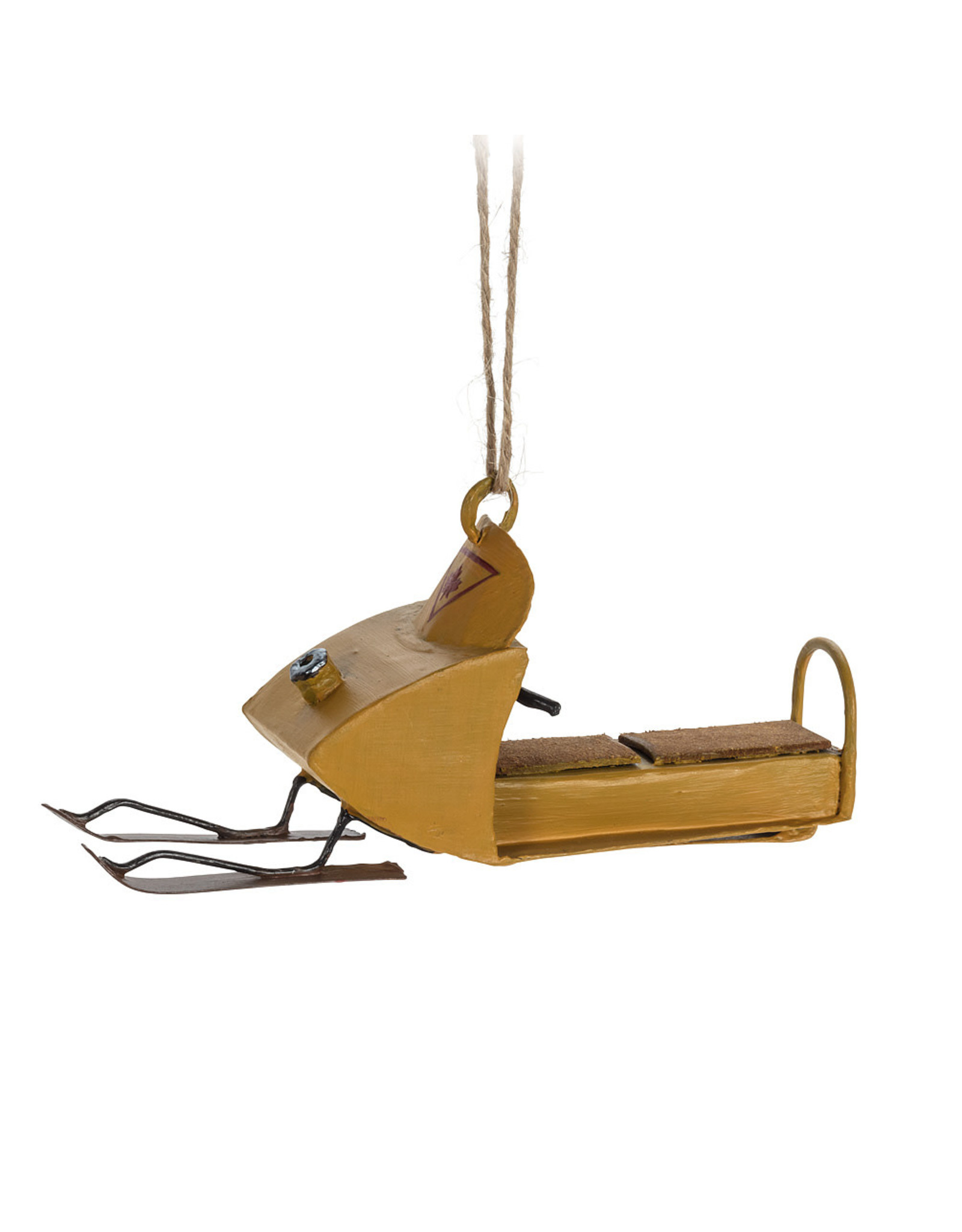 Yellow Snowmobile Ornament