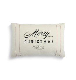 White Merry Christmas Cushion
