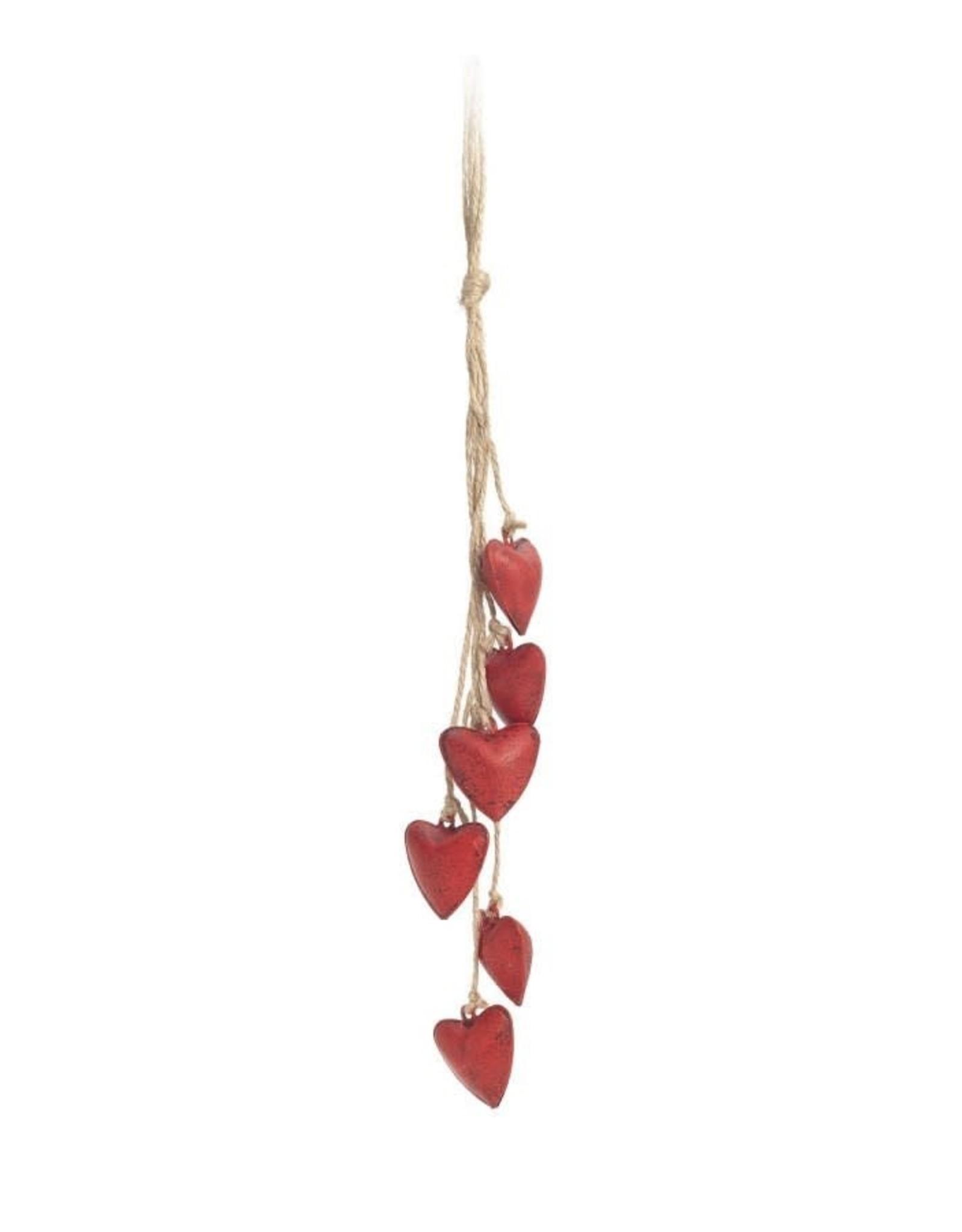 Christmas Tassel Small Hearts