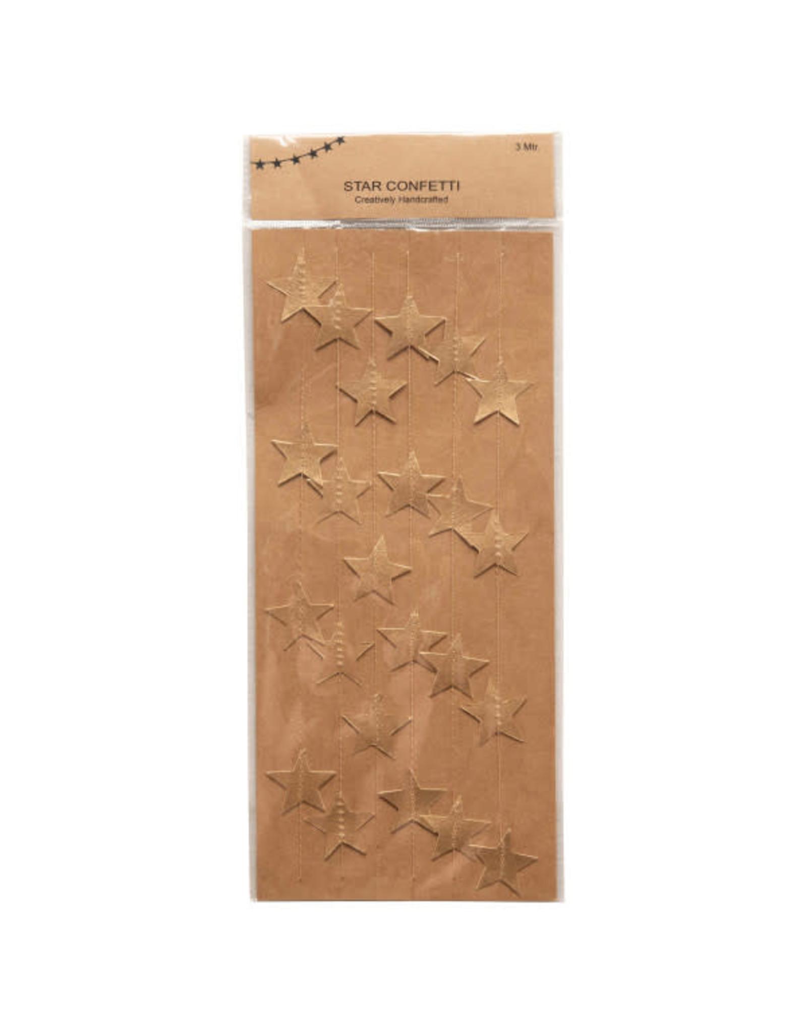 "118"" Paper Star Garland - Gold"