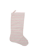 "20"" Woven Cotton Stocking w Kantha Stitch"