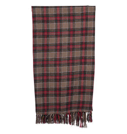 "60""x50"" Brushed Cotton Plaid Throw"